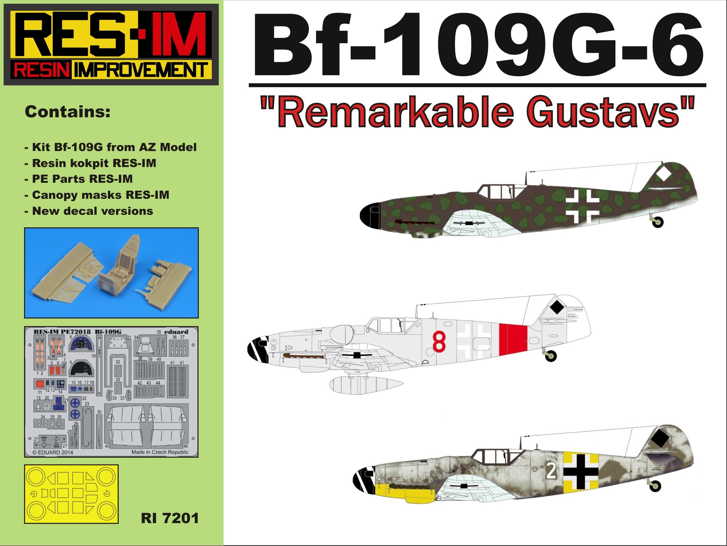 "Bf-109 G-6 ""Remarkable Gustavs"" REEDITION"""