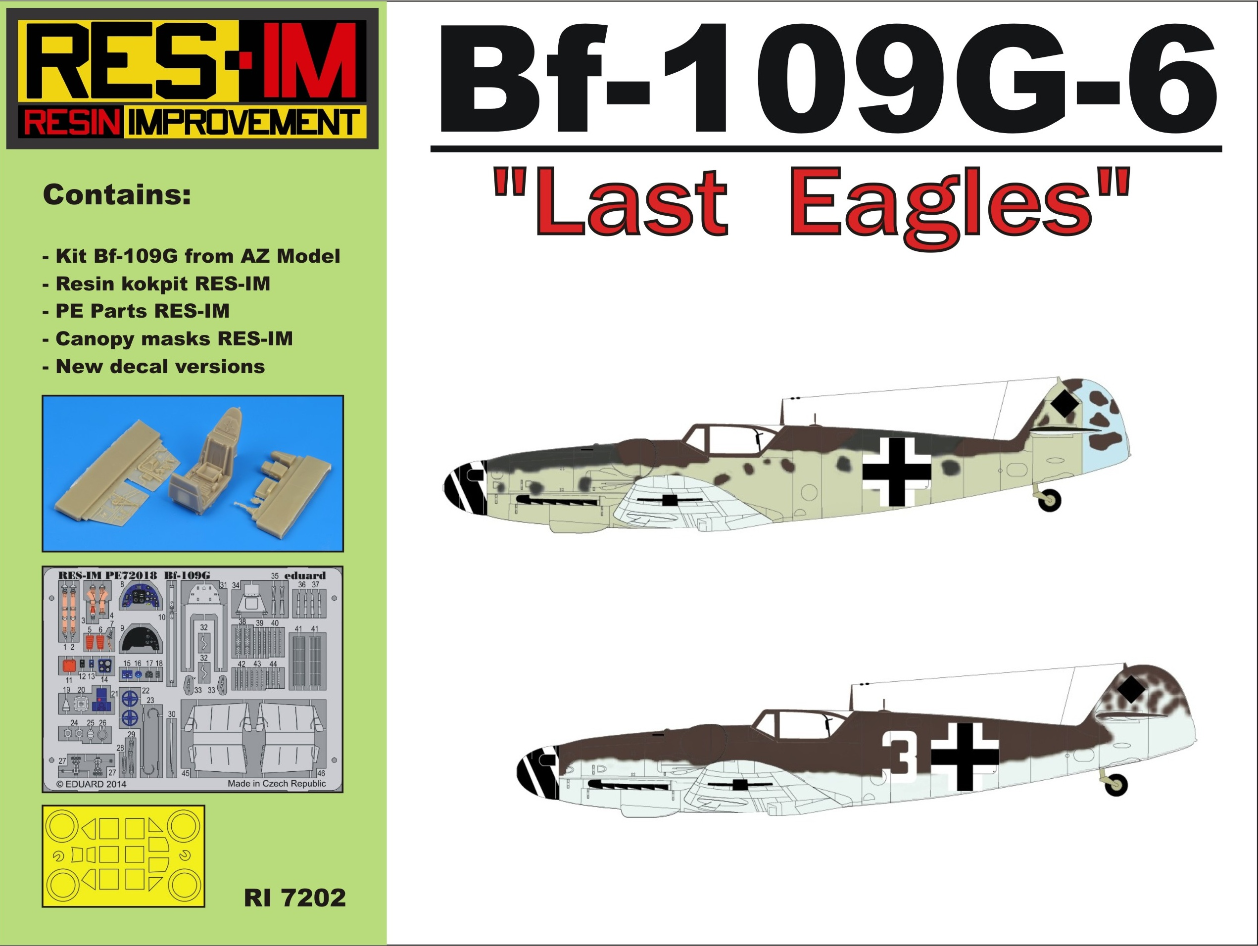 "Bf-109 G-6 ""Last Eagles"" "" REEDITION"""